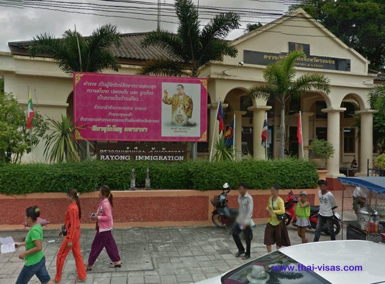Thai Immigration in Rayong