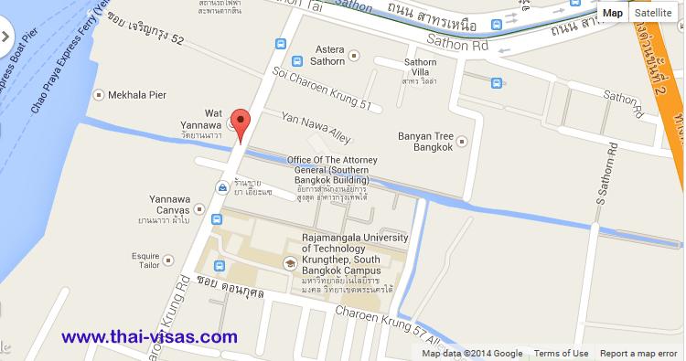 French Embassy In Bangkok Thailand Visa Thai Immigration - Us embassy bangkok map