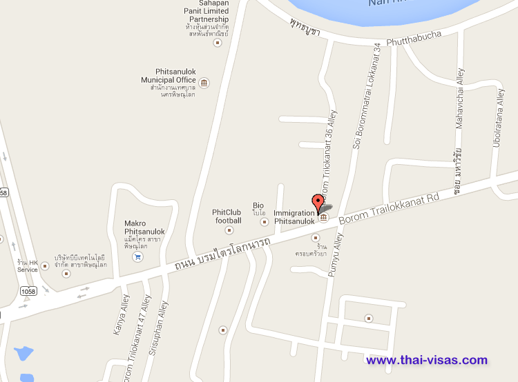Phitsanulok Thailand Map.Thai Immigration In Phitsanulok Thailand Visa Thai Immigration