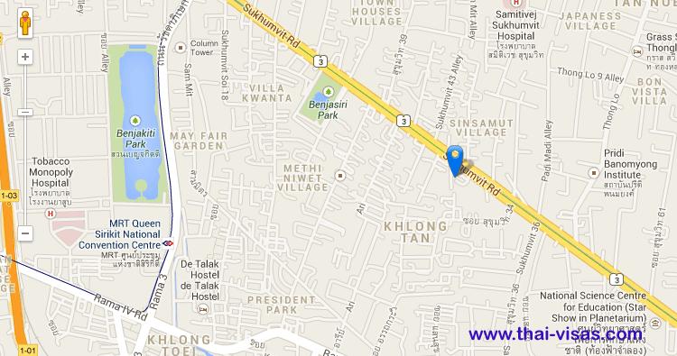Philippines Embassy In Thailand Thailand Visa Thai Immigration - Us embassy bangkok map